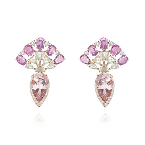 Sutra Pink Sapphire Earrings