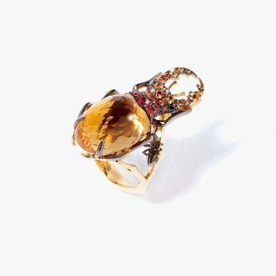 Mythology 18ct Gold Citrine Beetle Ring | Annoushka jewelley