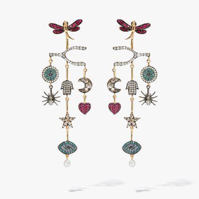 Love Diamonds 18ct Yellow Gold Diamond Chandelier Earrings