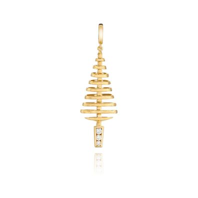 Garden Party 18ct Gold Diamond Small Pendant