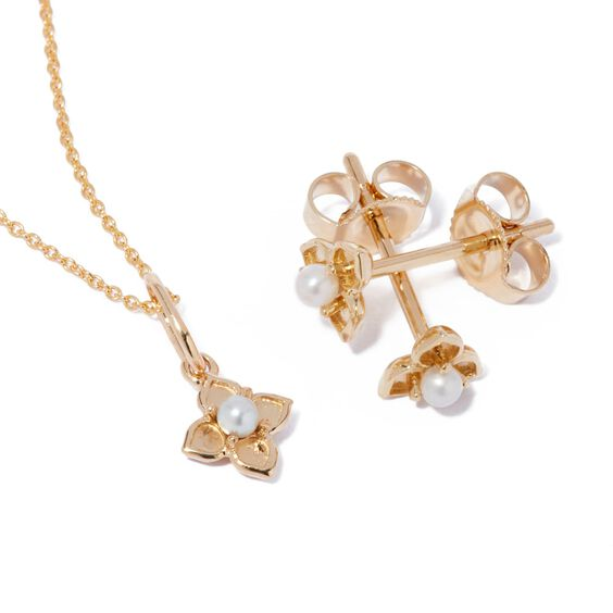 Tokens 14ct Gold Pearl Studs   Annoushka jewelley