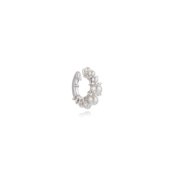 Diamonds & Pearls 18ct White Gold Ear Cuff: An Online Exclusive