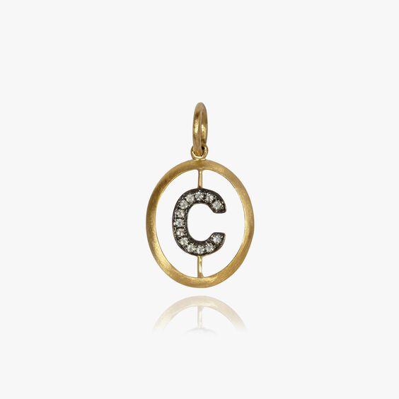 18ct Gold Diamond Initial C Pendant | Annoushka jewelley
