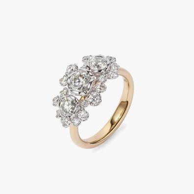 Marguerite 18ct Gold Triple 0.50ct Diamond Ring