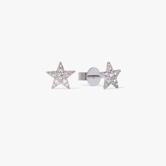 Love Diamonds 18ct White Gold Diamond Star Studs