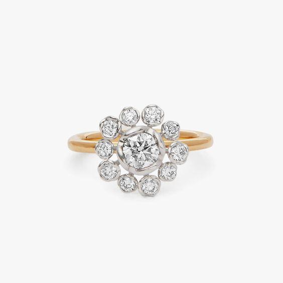 Marguerite 18ct Gold 0.50ct Diamond Ring | Annoushka jewelley
