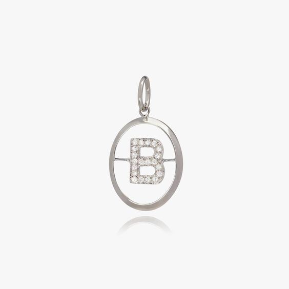 18ct White Gold Initial B Pendant | Annoushka jewelley