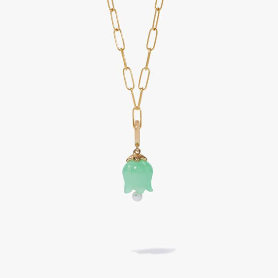 18ct Gold Green Jade Tulip Charm | Annoushka jewelley