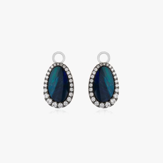 Unique 18ct White Gold Opal Earring Drops   Annoushka jewelley
