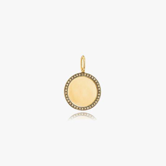 Mythology 18ct Gold Pavé Diamond Disc
