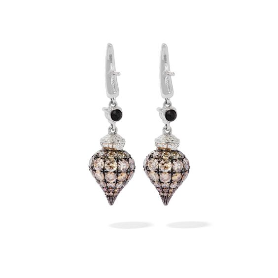 Touch Wood 18ct White Gold Diamond Earrings | Annoushka jewelley