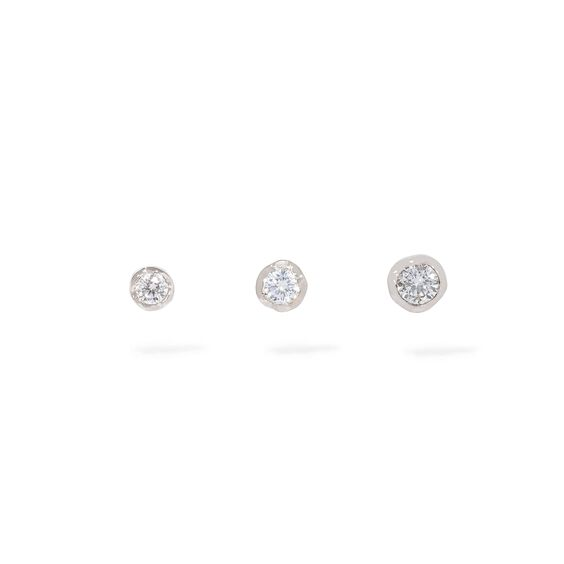 Love Diamond 14ct White Gold Solitaire Stud Earring Trio | Annoushka jewelley