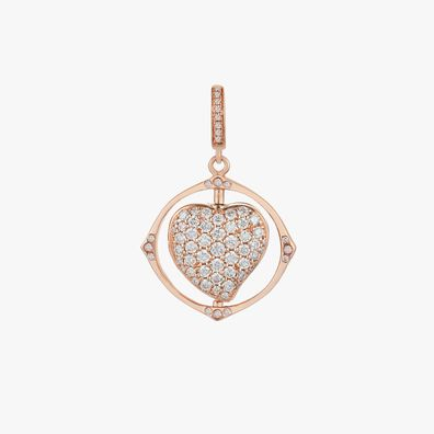 Mythology 18ct Rose Gold Spinning Heart Locket Charm