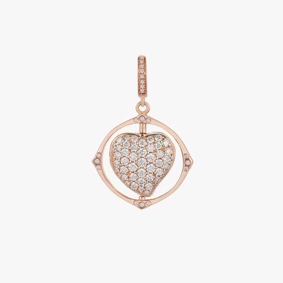 Mythology 18ct Rose Gold Spinning Heart Locket Charm | Annoushka jewelley
