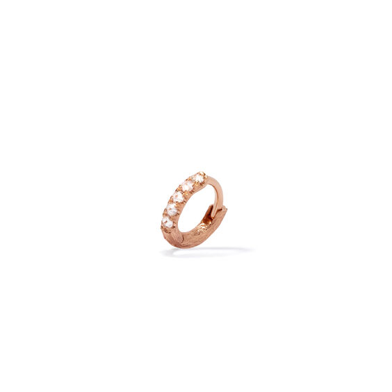Dusty Diamonds 18ct Rose Gold Diamond Mini Hoop