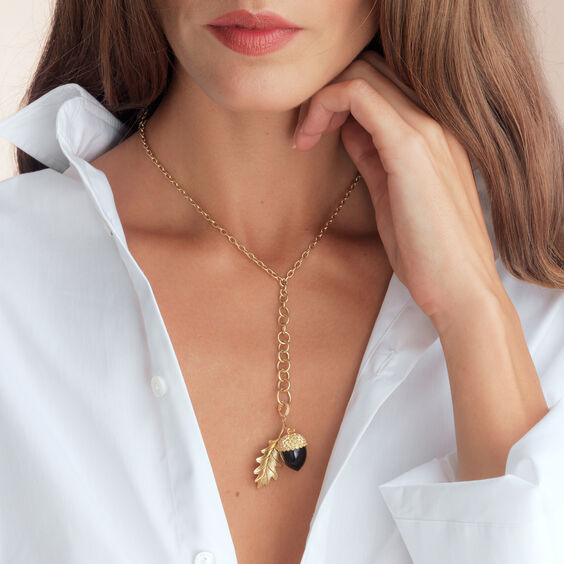 Mythology 18ct Gold Smoky Quartz Acorn Seed Pendant | Annoushka jewelley