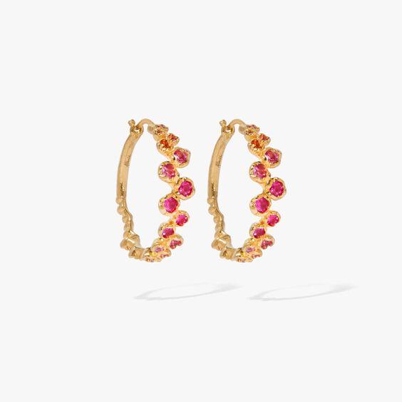 Hidden Reef 18ct Gold Sapphire Hoops