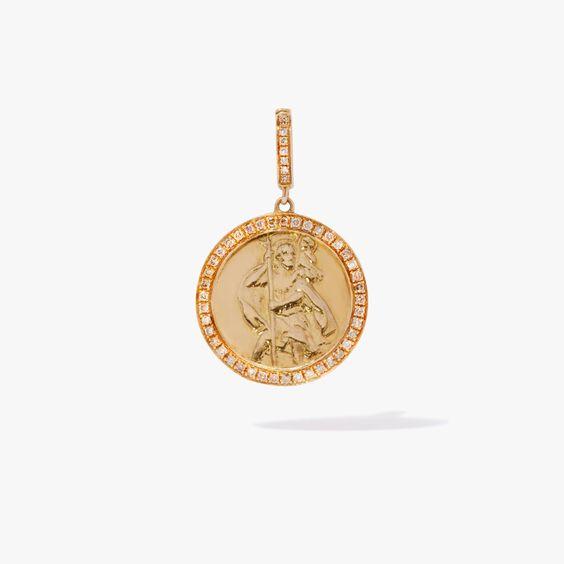 Mythology 18ct Gold Diamond St Christopher Charm