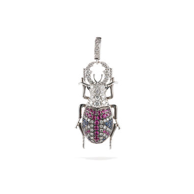 Mythology 18ct White Gold British Beetle Charm