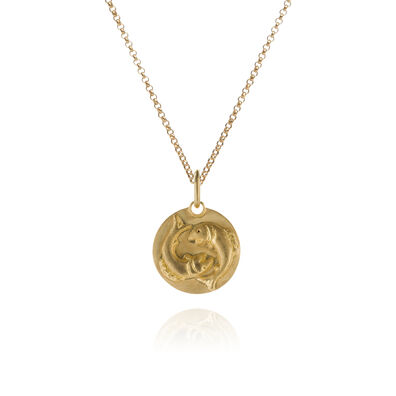 Mythology 18ct Gold Pisces Necklace
