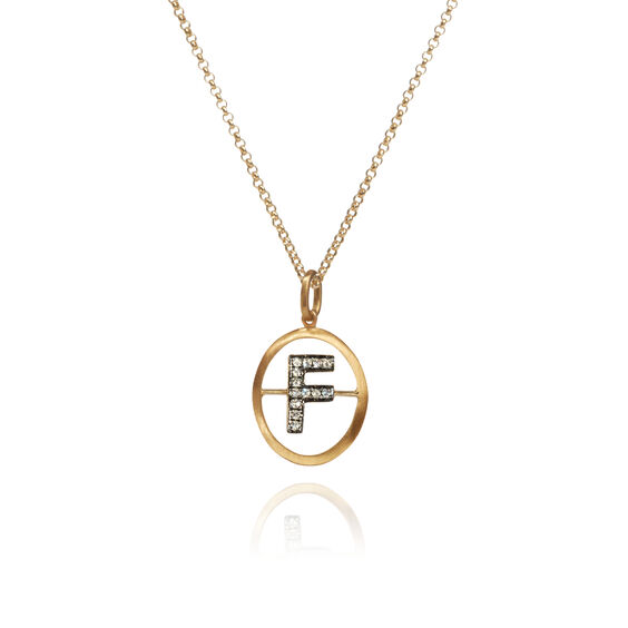 18ct Gold Diamond Initial F Necklace | Annoushka jewelley