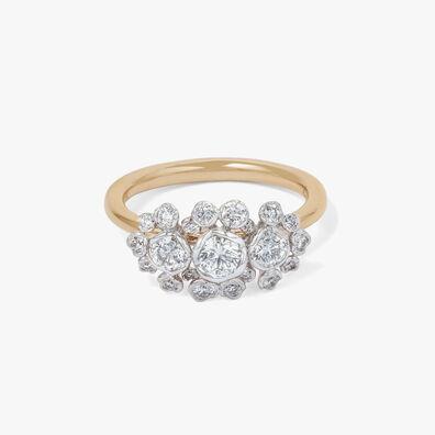 Marguerite 18ct Gold Triple Diamond Ring