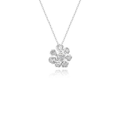 Marguerite 18ct White Gold Diamond Necklace
