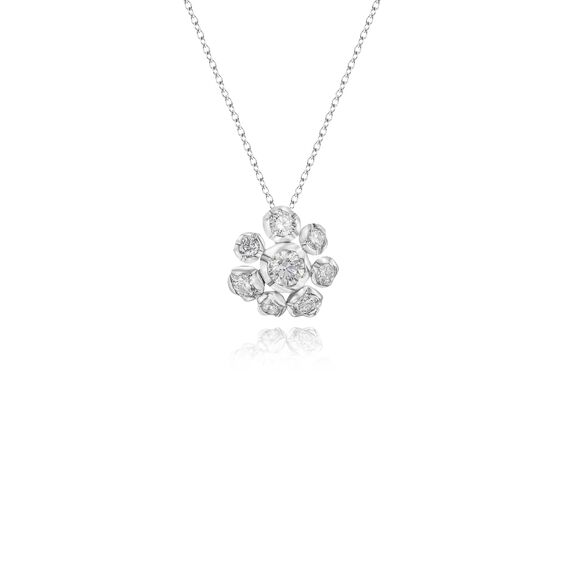 Marguerite 18ct White Gold Diamond Necklace | Annoushka jewelley
