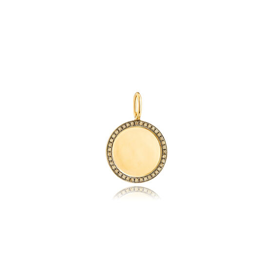 Mythology 18ct Gold Pavé Diamond Disc