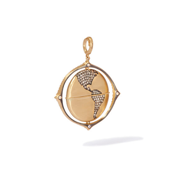 Mythology 18ct Gold Diamond Spinning Globe Pendant | Annoushka jewelley