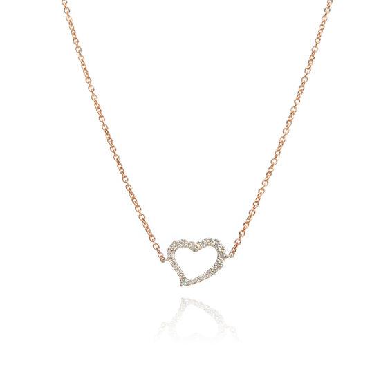 Love Diamonds 18ct Bi-Gold Diamond Heart Necklace