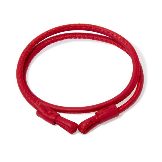 41cms Red Leather Bracelet | Annoushka jewelley