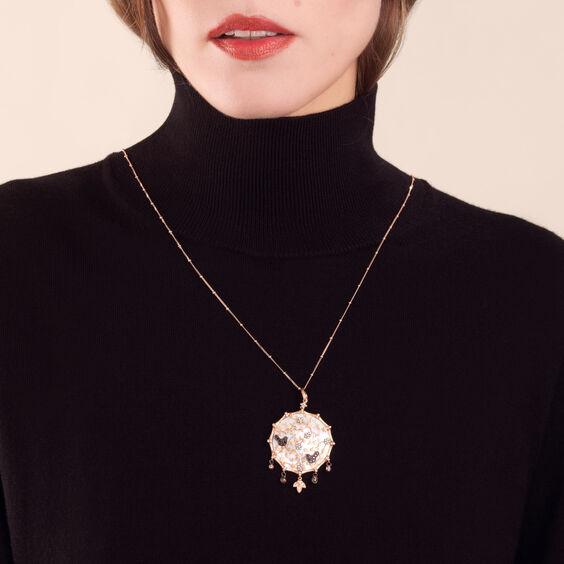 Dream Catcher 18ct Rose Gold Pearl Large Pendant