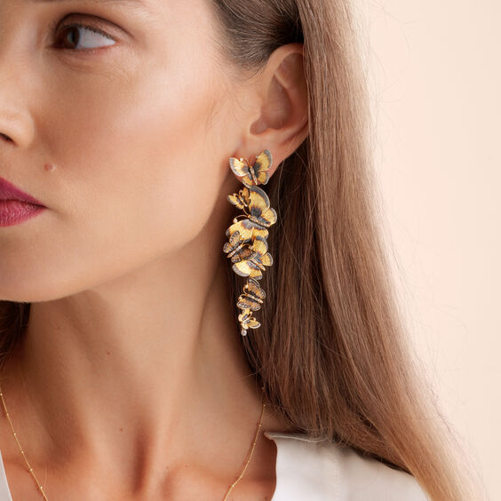 Butterflies 18ct Gold Diamond Chandelier Earrings | Annoushka jewelley