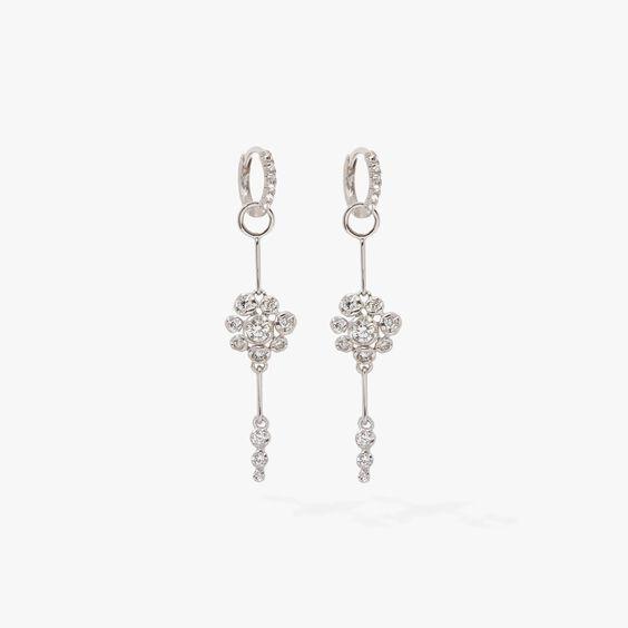 Marguerite 18ct White Gold Diamond Earrings   Annoushka jewelley