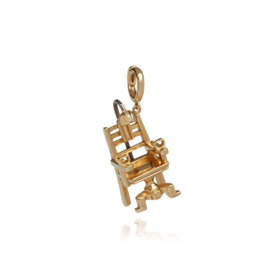 "18ct Gold Diamond ""The Mercy Seat"" Charm"