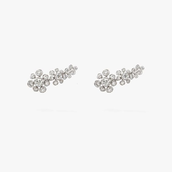 Marguerite 18ct White Gold Diamond Ear Pins | Annoushka jewelley