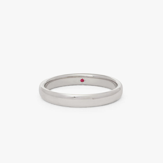 18ct White Gold 3mm Wedding Band | Annoushka jewelley