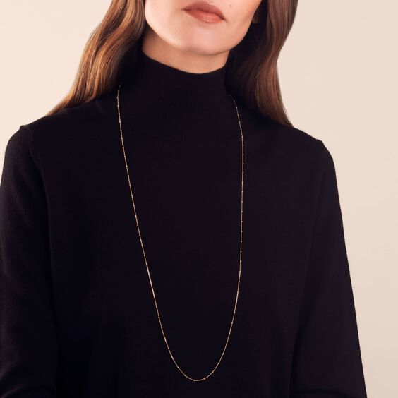 18ct Gold Saturn Long Chain | Annoushka jewelley