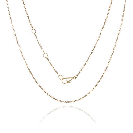 18ct Gold Fine Belcher Chain