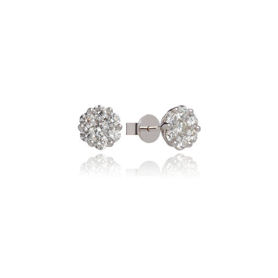 Daisy 18ct White Gold 1.42ct Diamond Studs