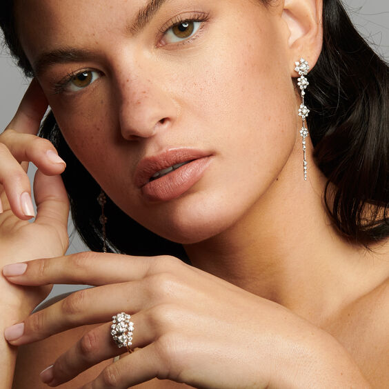 Marguerite 18ct Gold Triple 0.50ct Diamond Ring | Annoushka jewelley