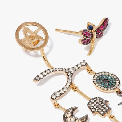 Love Diamonds 18ct Yellow Gold Diamond Chandelier Right Earring