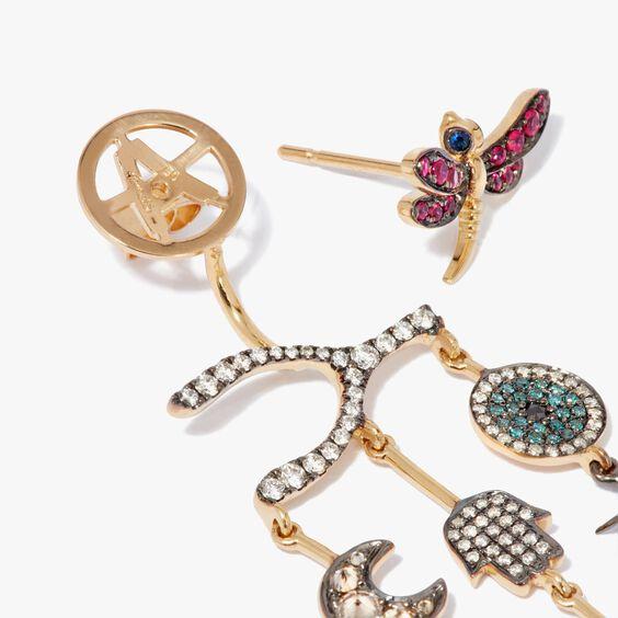 Love Diamonds 18ct Yellow Gold Diamond Chandelier Right Earring | Annoushka jewelley