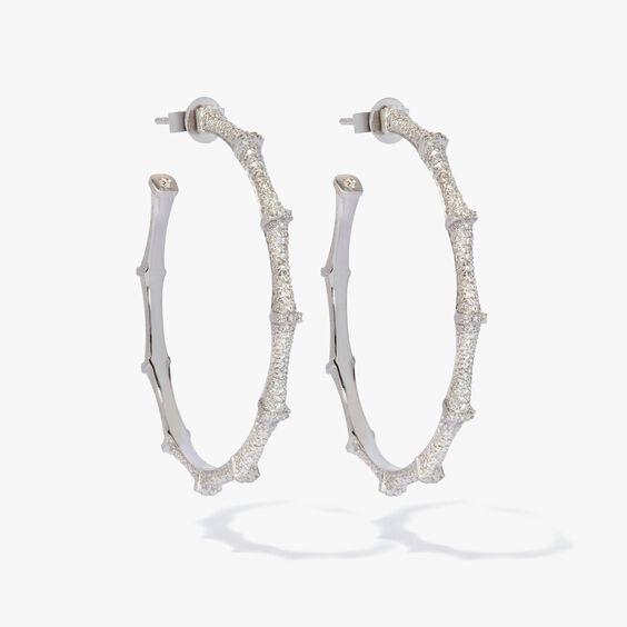 Dream Catcher 18ct White Gold Diamond Large Hoop Earrings | Annoushka jewelley