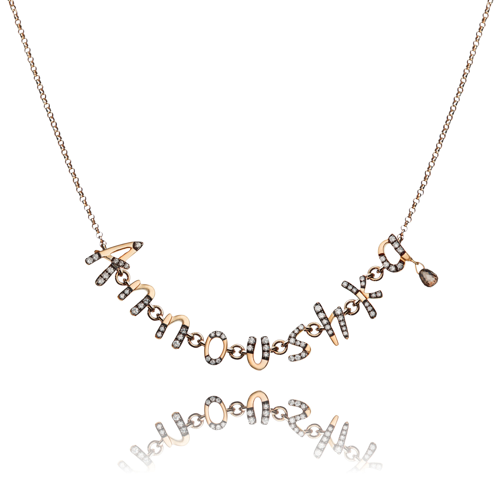 ce95067581d7c Personalised Rose Gold Chain Letters Necklace