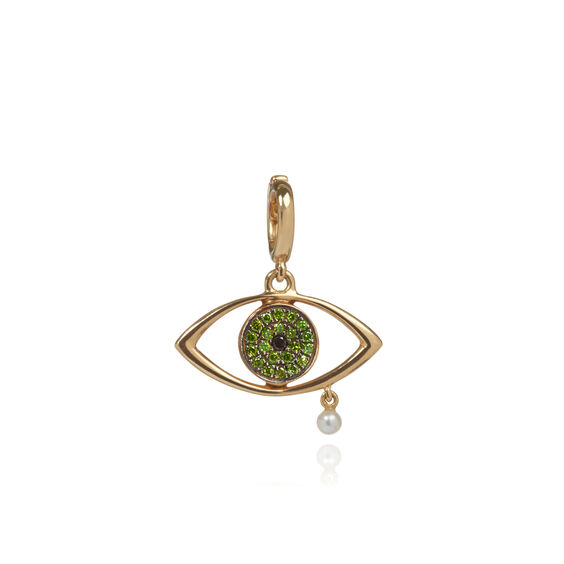 """18ct Gold Diamond """"The Weeping Song"""" Charm 