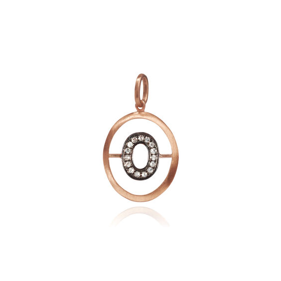 18ct Rose Gold Initial O Pendant | Annoushka jewelley