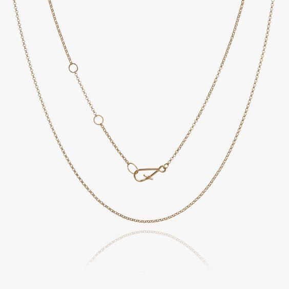 18ct Gold Fine Long Belcher Chain   Annoushka jewelley
