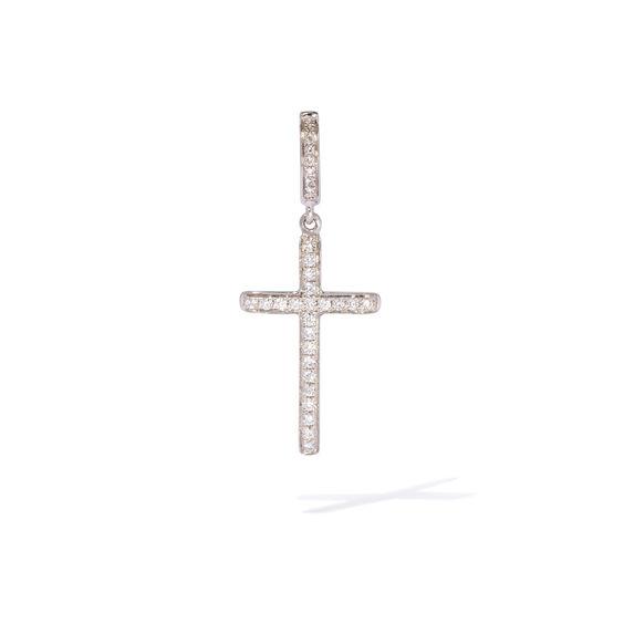 Eclipse 18ct White Gold Diamond Cross Pendant